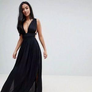 ASOS petite grecian plunge maxi dress, size 4